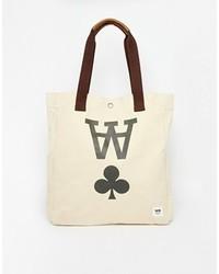 Wood Wood Canvas Tote Bag