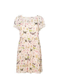 Beige Print Casual Dress