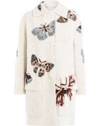 Valentino Printed Sheepskin Coat