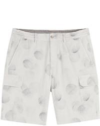Printed cotton bermuda shorts medium 671043