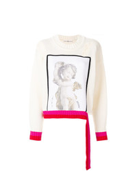 Golden Goose Deluxe Brand Angel Print Distressed Sweater