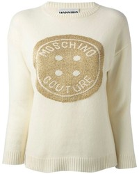 Moschino Button Intarsia Sweater