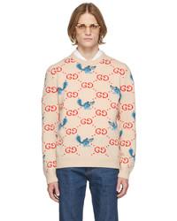 Gucci Off White Freya Hartas Edition Gg Animal Sweater