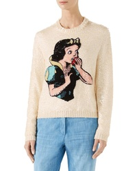 Gucci Snow White Sequin Wool Sweater
