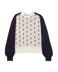Chloé Studded Jacquard Knit Sweater