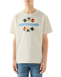 Gucci Band Oversize Print T Shirt