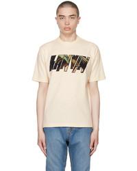 Lanvin Beige Logo Appliqu T Shirt