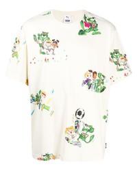 Puma Cartoon Print Crew Neck T Shirt