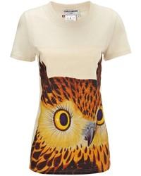 Charles Anastase Beige Cotton Owl Thelma Tee