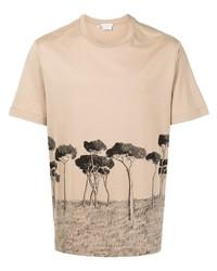 Brioni Illustration Print Cotton T Shirt