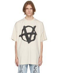 Vetements Off White Double Anarchy T Shirt