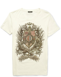 Balmain Slim Fit Printed Cotton Jersey T Shirt