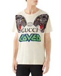 Gucci Tiger Print T Shirt