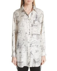 Burberry Chava Sketch Silk Shirt