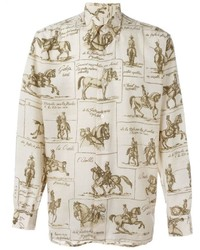 Herms Vintage Horse Print Shirt