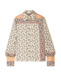 Chloé Printed Silk Satin Shirt