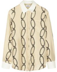 Altuzarra Printed Silk Twill Shirt