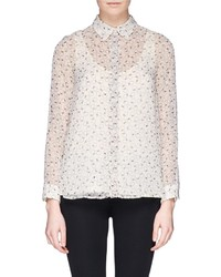 Nobrand Strawberry Print Chiffon Shirt