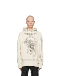 Givenchy Beige Oversized Graphic Hoodie
