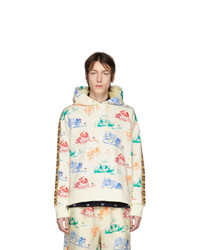 Gucci Off White And Multicolor Disney Edition Jersey Hoodie