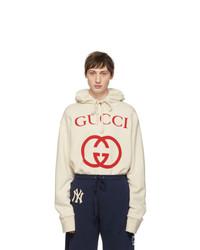 Gucci Off White Logo Hoodie