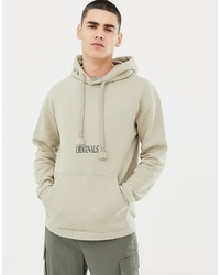 Jack & Jones Originals Hoodie With Front And Back Graphic