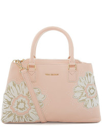 La fleur emma leather floral convertible satchel medium 321993