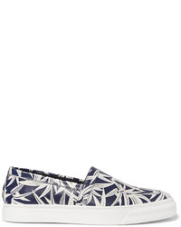 Marc Jacobs Printed Leather Slip On Sneakers