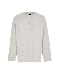 River Island Maison Textured Long Sleeve T Shirt