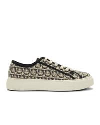 Salvatore Ferragamo Off White Anson Sneakers