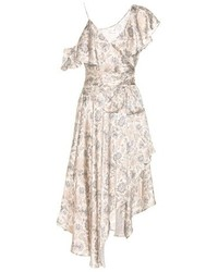Zimmermann Stranded Wrap Printed Silk Midi Dress