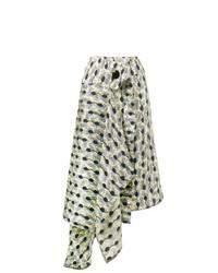 Marni Garland Print Asymmetric Skirt
