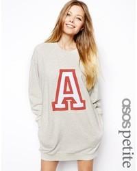 Asos Petite Sweatshirt Dress With A Applique