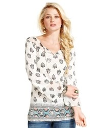 Lucky brand jeans lucky brand paisley print peasant top medium 469671