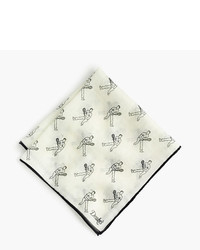 J.Crew Drakes Cotton Silk Pocket Square In Tennis Player Print