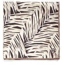 Canali Fern Print Silk Satin Pocket Square