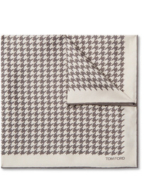Tom Ford Houndstooth Silk Twill Pocket Square