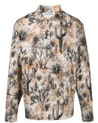 Acne Studios Desert Print Long Sleeved Polo Shirt