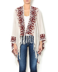 Ya Ya Club Clothing Aztec Fringe Poncho