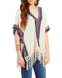 Penelope Project Tribal Trim Poncho Tunic