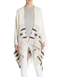 Vince Camuto Geo Weave Fringe Poncho