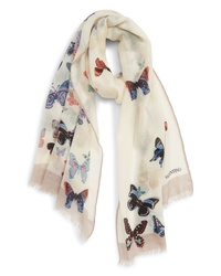 Valentino Butterfly Wool Scarf