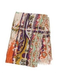 Etro Paisley Printed Modal Blend Scarf