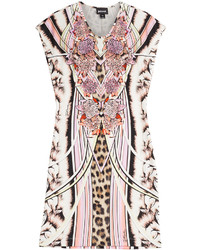 Just Cavalli Printed Jersey Sheath Dress