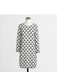 Printed three quarter sleeve gallery dress medium 365869