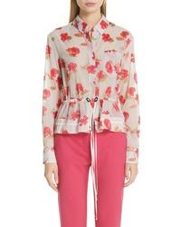 Altuzarra Floral Print Peplum Shirt Jacket