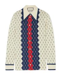 Gucci Printed Washed Silk Shirt
