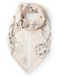 Alexander McQueen Artistic Skull Print Scarf