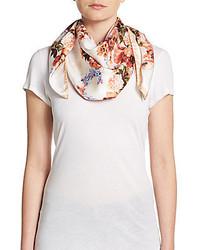 Blumarine floral print silk scarf medium 582956