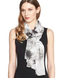 St. John Collection Floral Print Silk Scarf